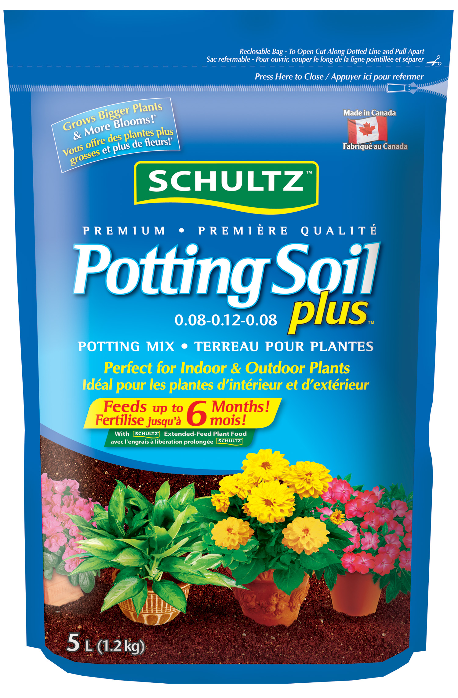 1800360 Schultz Potting Soil Plus 5L Hi Res EF_RGBweb