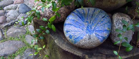 Painted garden stones